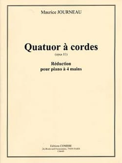 Maurice Journeau - Quatuor op. 11. 4 mains - Partition - di-arezzo.fr