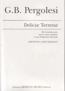 Deliciae terrenae - PERGOLESE - Partition - laflutedepan.com