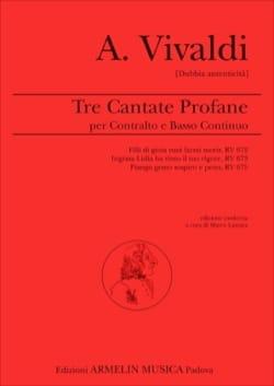 VIVALDI - 3 cantates profanes - Partition - di-arezzo.ch