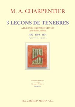 Marc-Antoine Charpentier - 3 lessons of darkness H 92 - H 93 - H 94 - Sheet Music - di-arezzo.com