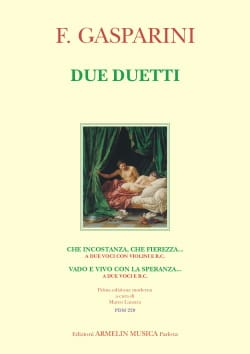 Due duetti Francesco Gasparini Partition Duos - laflutedepan