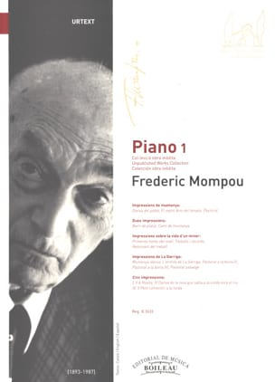 Federico Mompou - Piano. Volume 1 - Partition - di-arezzo.fr