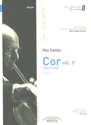 Pablo Casals - Cor. Volume 2 - Partition - di-arezzo.fr