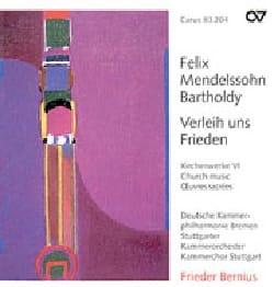 Félix MENDELSSOHN - Verleih uns Frieden - Partition - di-arezzo.fr
