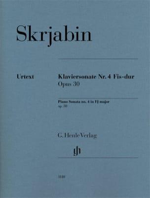 Alexander Scriabine - Sonate pour Piano en fa dièse majeur N° 4 Opus 30 - Partition - di-arezzo.fr