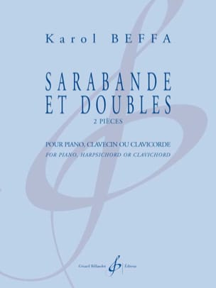 Sarabande et doubles Karol Beffa Partition Piano - laflutedepan