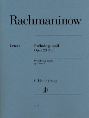 RACHMANINOV - Prelude in G minor Opus 23-5 - Partition - di-arezzo.co.uk