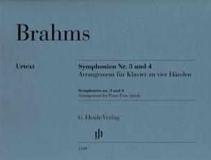 BRAHMS - Symphonies n° 3 et n° 4. 4 mains - Partition - di-arezzo.fr