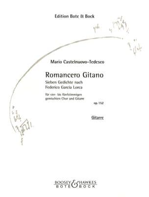 Mario Castelnuovo-Tedesco - Romancero Gitano Opus 152. - Partition - di-arezzo.fr