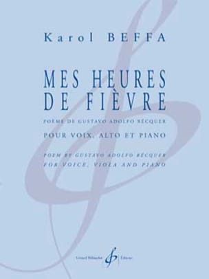 Mes heures de fièvre Karol Beffa Partition Alto - laflutedepan
