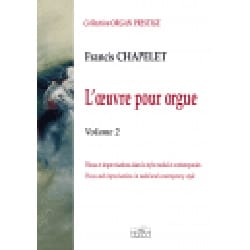 Francis Chapelet - Oeuvre pour orgue Volume 2 - Partition - di-arezzo.fr