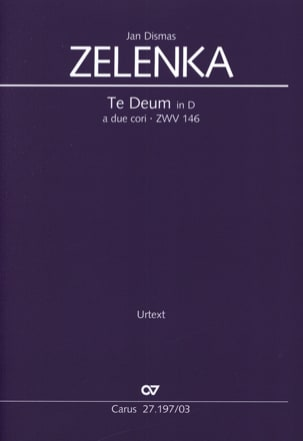 Jan Dismas Zelenka - Te Deum in re Zwv 146 - Sheet Music - di-arezzo.co.uk