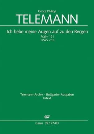 Georg Philipp Telemann - Ich hebe meine Augen auf zu den Bergen Tvwv 7:16 - Partition - di-arezzo.fr