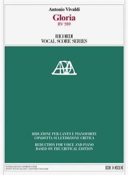 VIVALDI - Gloria RV 589. Edition critique - Partition - di-arezzo.fr
