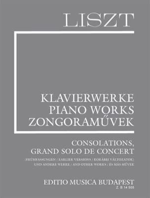 Franz Liszt - Consolations et autres pièces. Supplément 10 - Partition - di-arezzo.fr