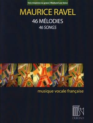 46 mélodies. Voix moyenne-grave RAVEL Partition laflutedepan