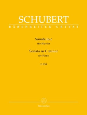 Sonate en do mineur D 958 SCHUBERT Partition Piano - laflutedepan