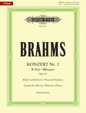 Johannes Brahms - Concerto pour piano n° 2 op. 83 en si bémol majeur - Partition - di-arezzo.fr