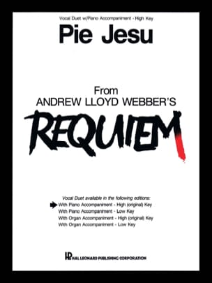 Webber Andrew Llyod - Pie Jesu. High voices - Sheet Music - di-arezzo.com