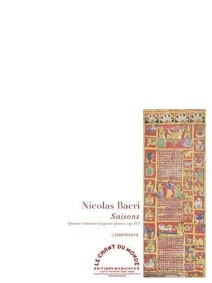 Nicolas Bacri - Saisons op. 123 - Partition - di-arezzo.fr
