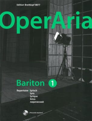 OperAria Baryton. Volume 1 (avec CD) - Partition - di-arezzo.fr