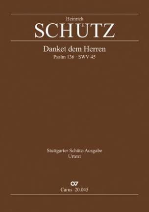 Heinrich Schütz - Danket dem Herren. Swv 45 - Partition - di-arezzo.fr