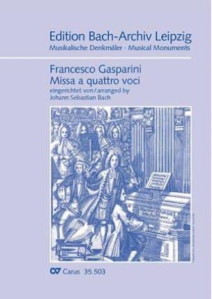 Gasparini Francesco / Bach Jean-Sébastien - Missa a quattro voci - Sheet Music - di-arezzo.com