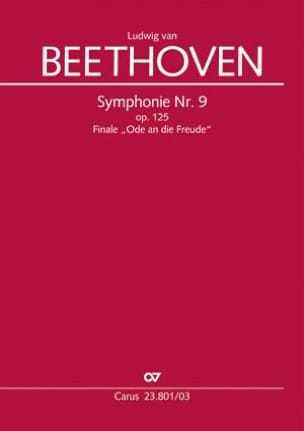 BEETHOVEN - An die Freude - Partition - di-arezzo.fr