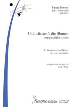 Fanny Hensel - Und wüssten's die Blumen - Partition - di-arezzo.fr