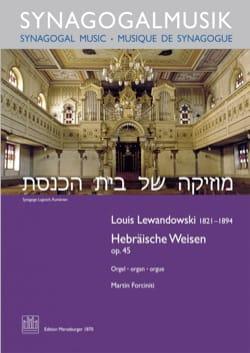 Louis Lewandowski - Hebräische Weisen op. 45 - Partition - di-arezzo.fr