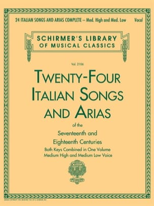 - 24 italian Songs and Arias. High and medium voices - Sheet Music - di-arezzo.com