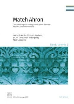 Mateh Ahron. Volume 1 - Partition - di-arezzo.fr