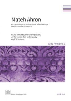Mateh Ahron. Volume 2 - Partition - Chœur - laflutedepan.com