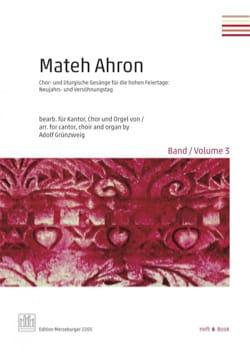 Mateh Ahron. Volume 3 - Partition - Chœur - laflutedepan.com