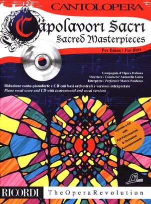 Capolavori Sacri. Basse avec CD - Partition - di-arezzo.fr