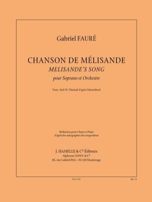 Gabriel Fauré - Chanson de Mélisande - Partition - di-arezzo.fr