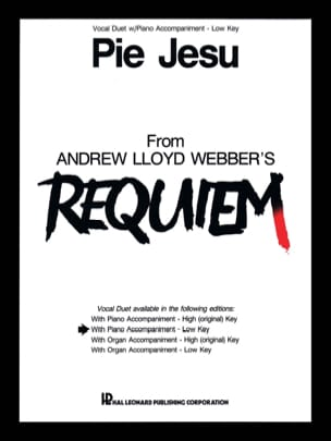 Webber Andrew Llyod - Pie Jesu. serious voices - Sheet Music - di-arezzo.com