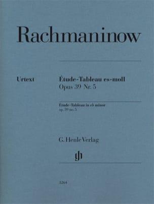 Sergei Rachmaninov - Étude-Tableau en mi bémol mineur opus 39-5 - Partition - di-arezzo.fr