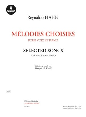 Mélodies choisies - Reynaldo Hahn - Partition - laflutedepan.com