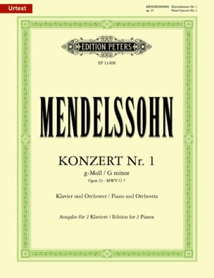 MENDELSSOHN - Piano Concerto No. 1 op. 25 in G minor - Sheet Music - di-arezzo.com