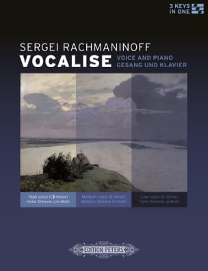 RACHMANINOV - Vocalise op. 34-14 - Partition - di-arezzo.fr