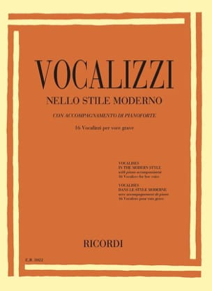 Vocalises in the modern style. Deep voice - Sheet Music - di-arezzo.com