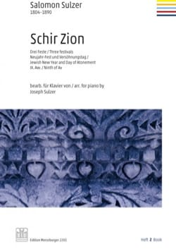 Salomon Sulzer - Schir Zion. Volume 2 - Partition - di-arezzo.fr