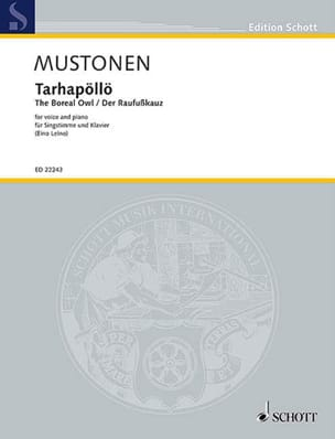 Olli Mustonen - Tarhapöllö - Sheet Music - di-arezzo.co.uk