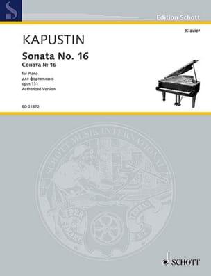 Sonate pour Piano n° 16 Opus 131 - Nikolai Kapustin - laflutedepan.com