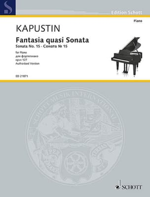 Fantasia quasi sonata Opus 127 Nikolai Kapustin Partition laflutedepan