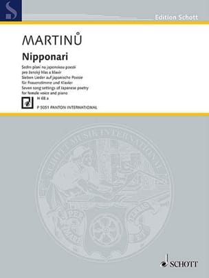 Nipponari H 68a - MARTINU - Partition - Mélodies - laflutedepan.com