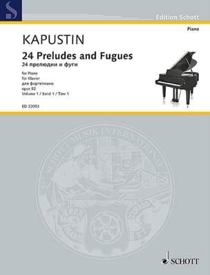 24 préludes et fugues op. 82. Volume 1 Nikolai Kapustin laflutedepan
