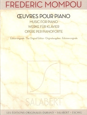 Federico Mompou - Piano Works - Sheet Music - di-arezzo.co.uk