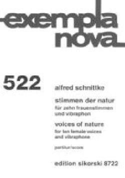 Voices of Nature Alfred Schnittke Partition Chœur - laflutedepan